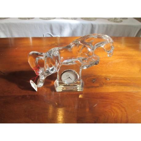 Horloge en cristal de Baccarat