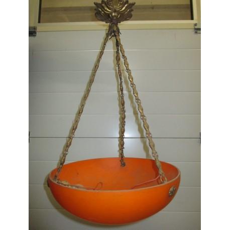 Lustre en pâte de verre orange