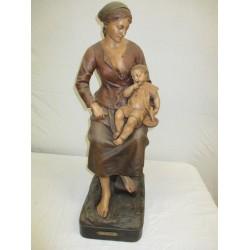 Statue en terre cuite signée J. Le Guluche
