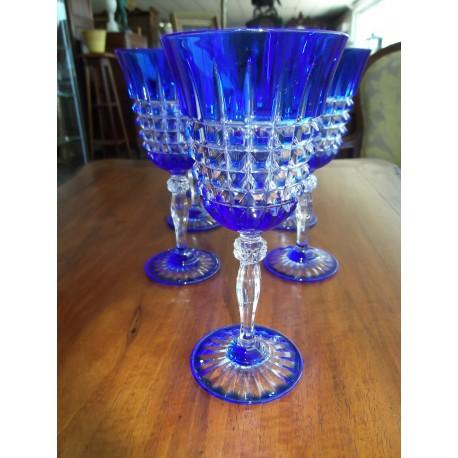 7 verres en cristal