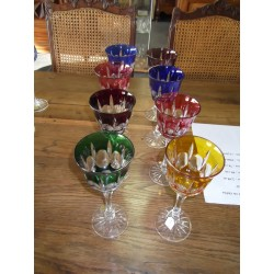 8 verres en crital