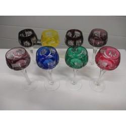 Verres en cristal de couleurs